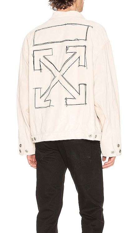 Taft Point Leather Jacket OFF-WHITE $1,198