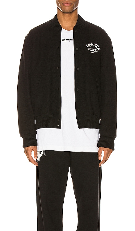 Arrow Varsity Jacket OFF-WHITE $1,240 NEW