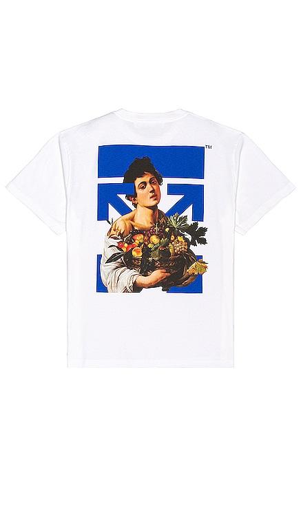 CARAVAGGIO 티셔츠 OFF-WHITE $335 NEW