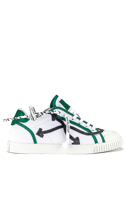 LOW VULCANIZED 캔버스 스니커즈 OFF-WHITE $360 NEW