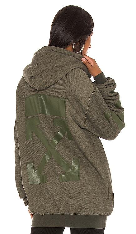 Arrow Zipped Hoodie OFF-WHITE $775