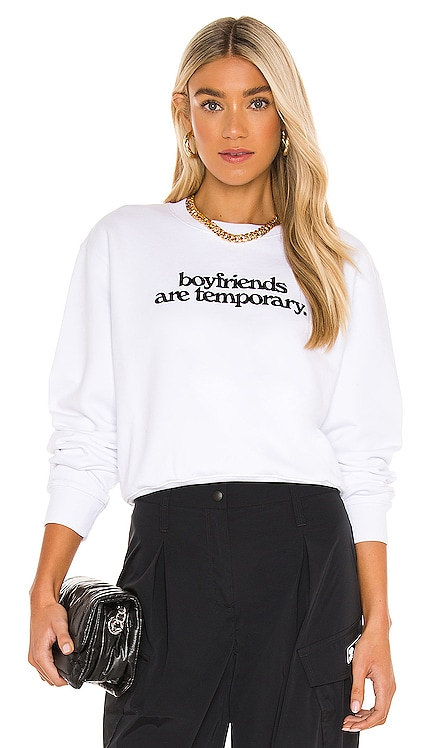 Boyfriends Cropped Crewneck Sweater OFF-WHITE $655