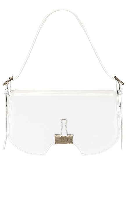 Mirror Swiss Flap Bag OFF-WHITE $1,295