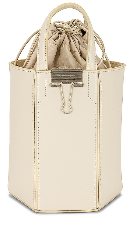 Calf Allen Bucket Bag OFF-WHITE $1,140