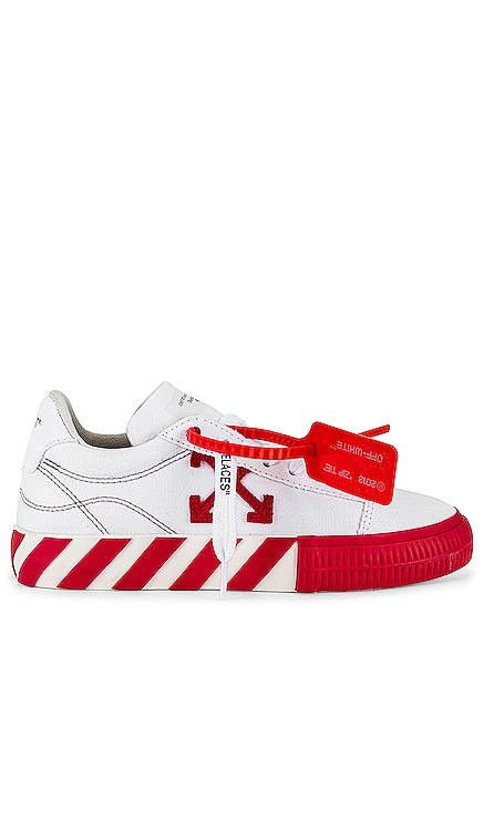 Canvas Low Vulcanized Sneaker OFF-WHITE $250