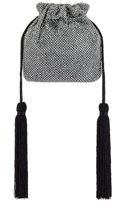 Karina Crystal Mesh Drawstring Pouch Bag olga berg $115 BEST SELLER