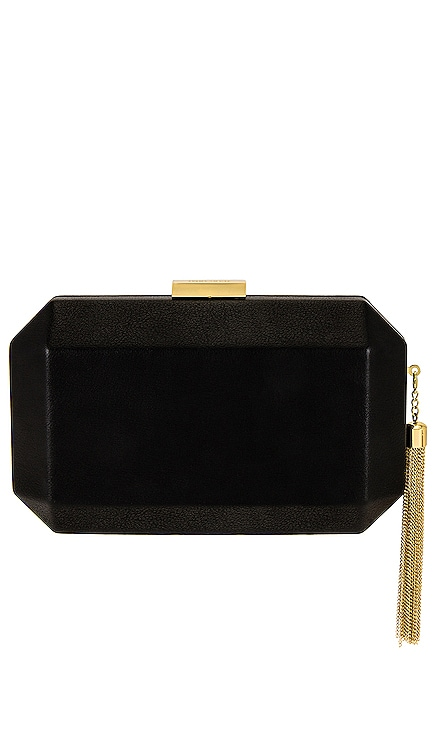 Lia Facetted Clutch With Tassel olga berg $90