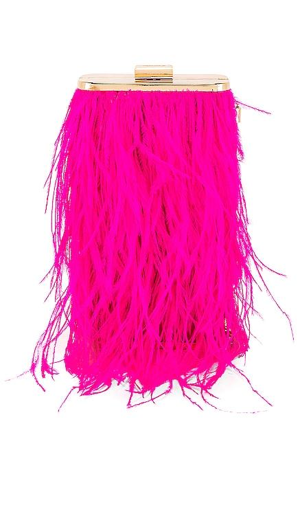 Tonia Feather Fringed Shoulder Bag olga berg $99