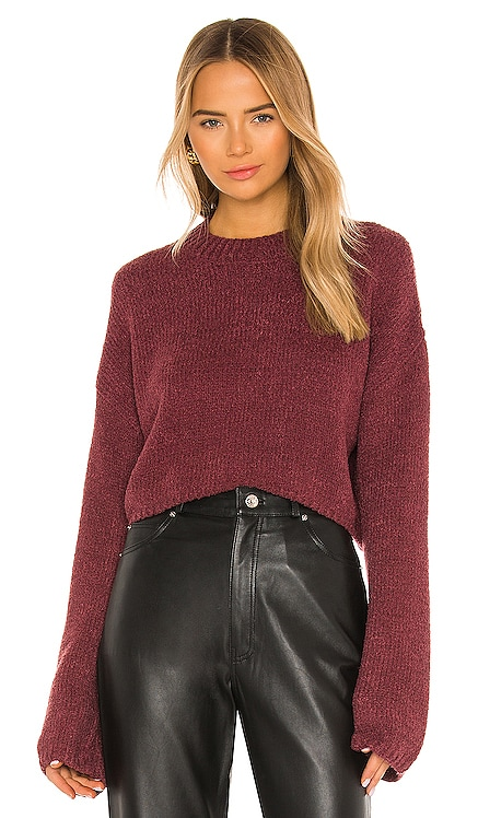 X REVOLVE Wesley Cropped Pullover One Grey Day $138