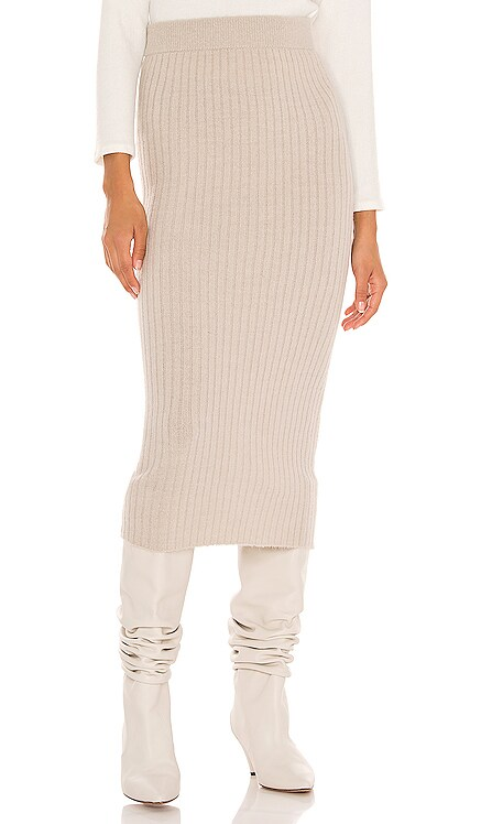 Gunnar Ribbed Skirt One Grey Day $158