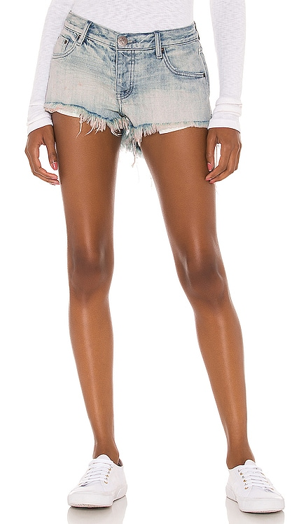 Bonitas Low Waist Denim Short One Teaspoon $108 NEW