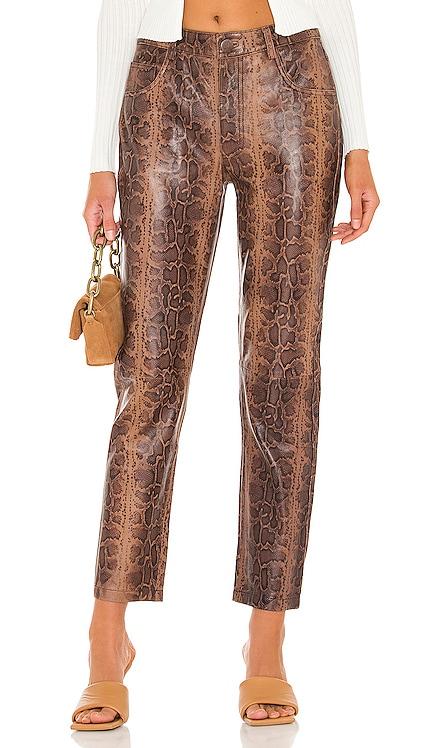 Python Leather Trucker Pants One Teaspoon $348