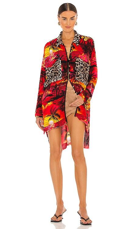 Animal Shirt Dress One Teaspoon $134 NEW