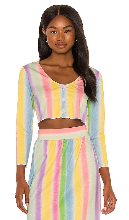 Layla Shimmer Crop Top onia $175 NEW