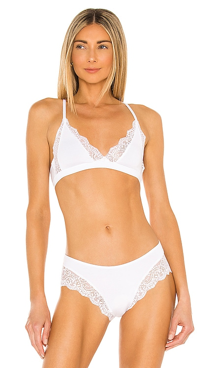 So Fine with Lace Triangle Racer Back Bralette Only Hearts $57 NEW