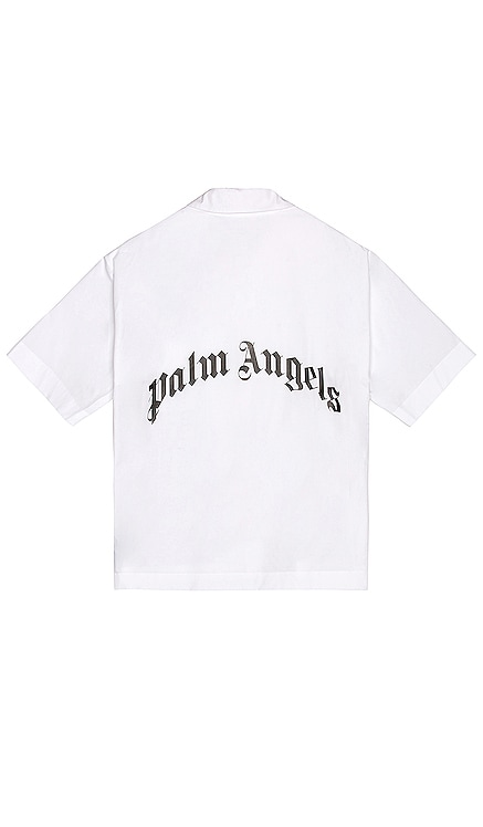 Curved Logo Bowling Shirt Palm Angels $515 BEST SELLER