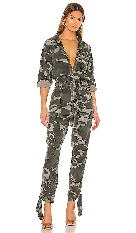 Camo Tencel Jumpsuit Pam & Gela $375