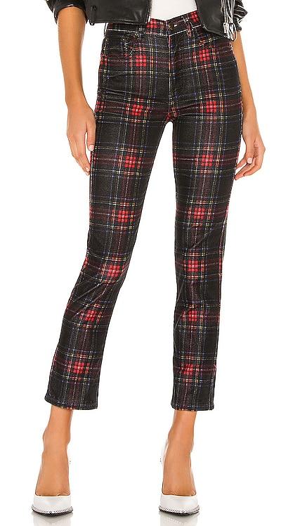 Tartan Plaid Slim Crop Pant Pam & Gela $92