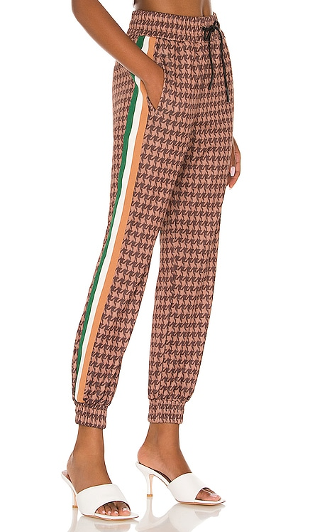 Houndstooth Crop Track Pant Pam & Gela $245 NEW