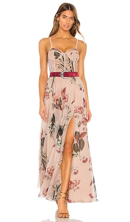 x REVOLVE Carolina Belted Bustier Dress PatBO $597