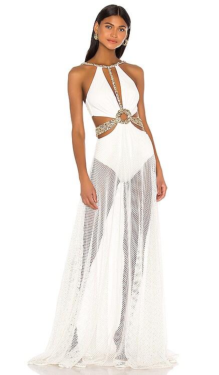 Beaded Cutout Beach Dress PatBO $895 NEW