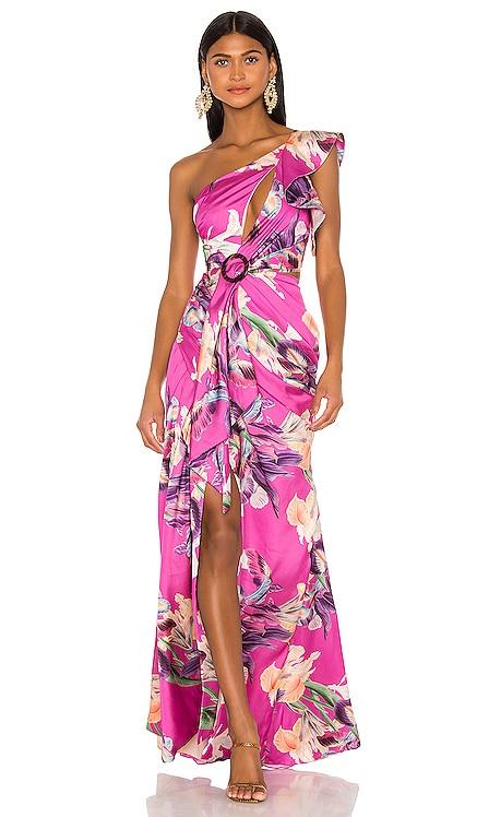 Grace Print One Shoulder Maxi Dress PatBO $775 NEW ARRIVAL
