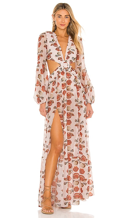 Seashell Long Sleeve Beach Dress PatBO $825 NEW