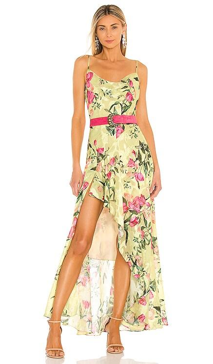 Tula Belted Slip Dress PatBO $695 NEW