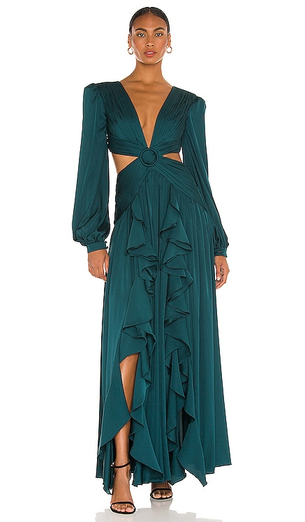 Cutout Plunge Gown PatBO $895 NEW