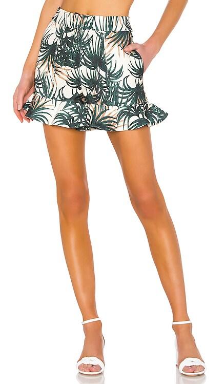 Palm Print Ruffle Shorts PatBO $101 (FINAL SALE)