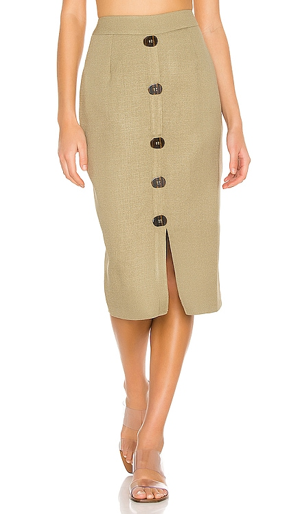 Linen Pencil Skirt PatBO $395