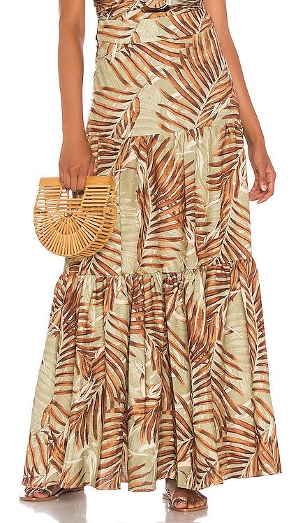 Palmeira Maxi Skirt PatBO $347