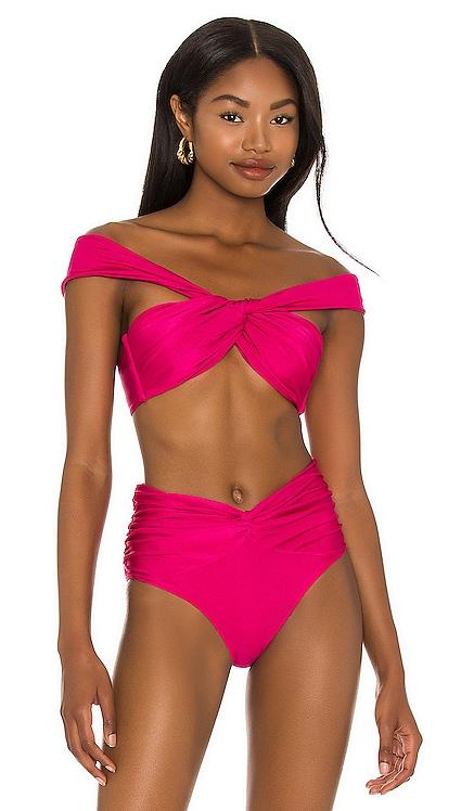 Off The Shoulder Bikini Top PatBO $130 NEW