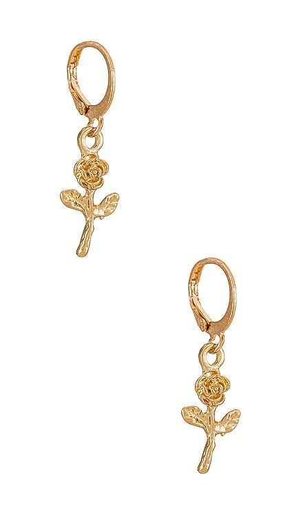 Rose Mini Charm Earring petit moments $17