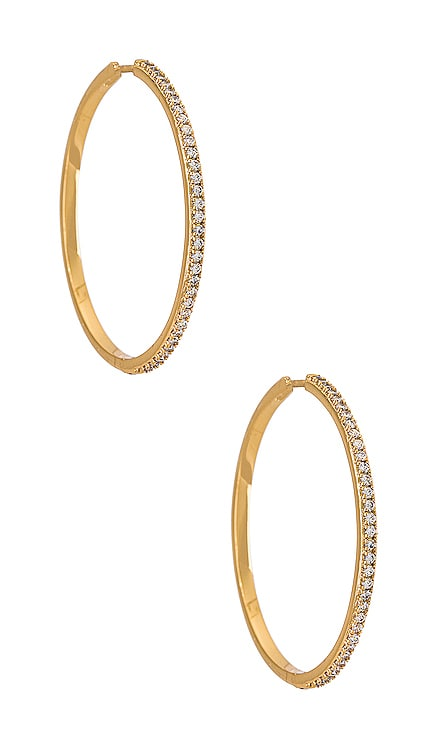 Pave Hoop Earring petit moments $70