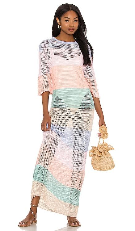 Rainbow Crochet Maxi Dress Pitusa $291