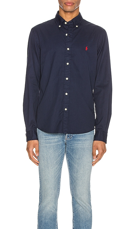 GD Chino Long Sleeve Button Up Shirt Polo Ralph Lauren $70
