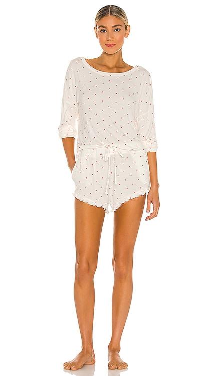 Ultra Soft Heart Jersey Pajama Set Plush $128 BEST SELLER