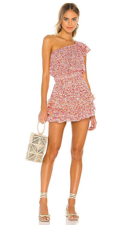 Kaia Ruffled Mini Dress Poupette St Barth $380 BEST SELLER