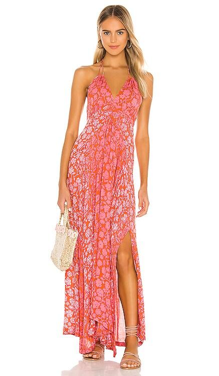 Ollie Flounce Maxi Dress Poupette St Barth $320