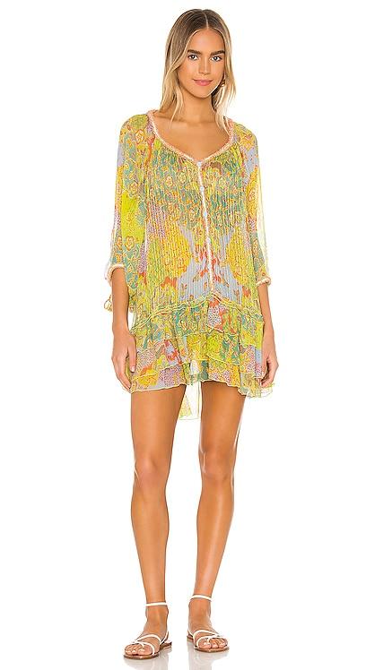 Nava Pleated Dress Poupette St Barth $465