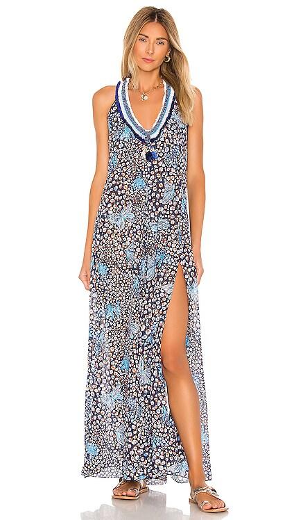 Nava Sleeveless Long Dress Poupette St Barth $297