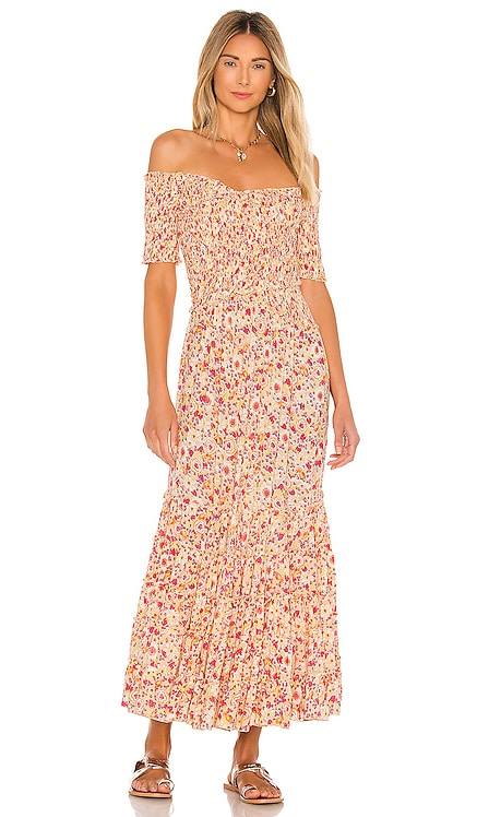 Soledad Off Shoulder Dress Poupette St Barth $339