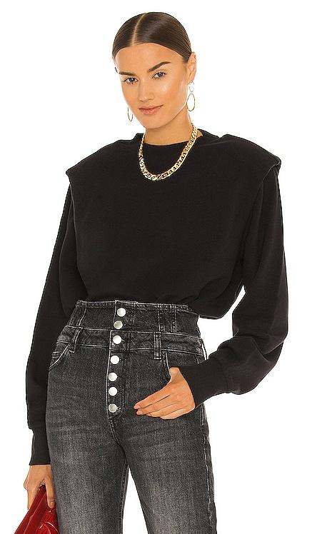 Kirsten Shoulder Pad Sweatshirt PISTOLA $108 NEW