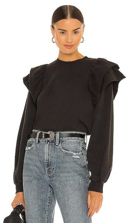 Dylan Ruffle Sweatshirt PISTOLA $128 NEW