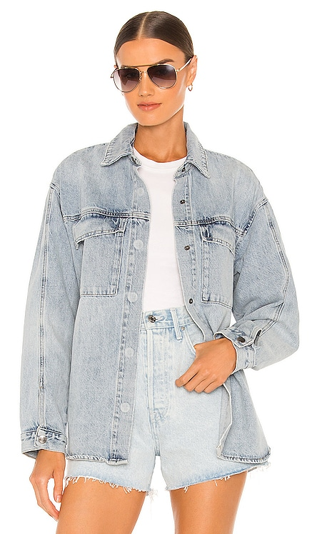 Frida Utility Jean Shacket PISTOLA $148 NEW
