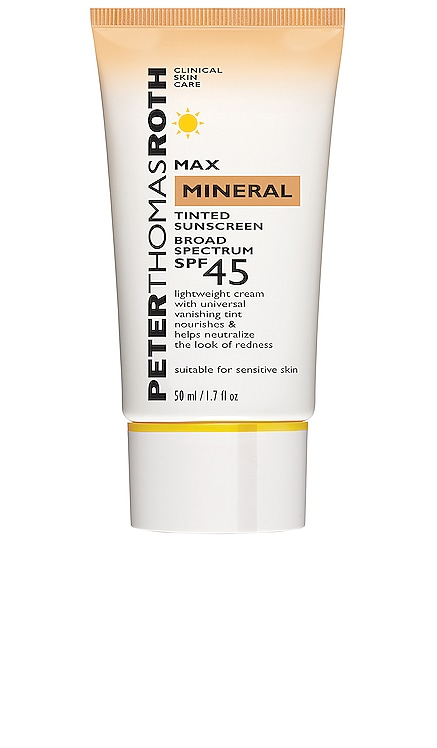 Max Mineral Naked Broad Spectrum SPF 45 UVA/UVB Protective Lotion Peter Thomas Roth $34 BEST SELLER