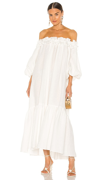 ROBE KALINA Piece of White $675 NOUVEAU