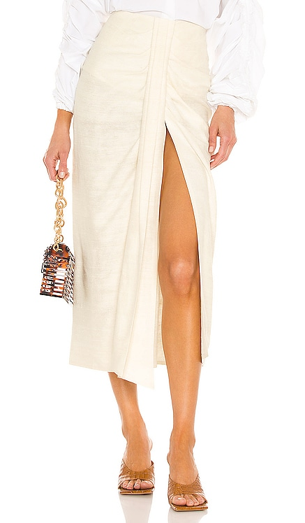 Audrey Skirt Piece of White $594 NEW