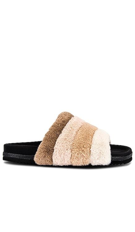Faux Fur Slide R0AM $130 BEST SELLER